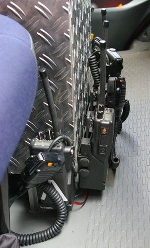 TSF-W, Mannschafts- & Fahrerraum - Handfunkgeräte